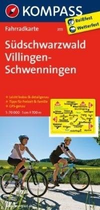 SUDSCHWARZWALD - VILLINGEN-SCHWENNINGEN wodoodporna mapa turystyczna 1:70 000 KOMPASS