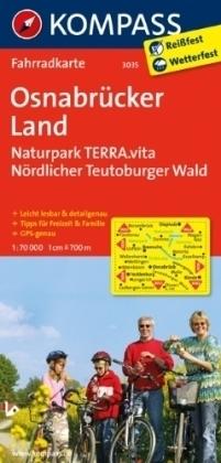 OSNABRUCKER LAND wodoodporna mapa turystyczna 1:70 000 KOMPASS