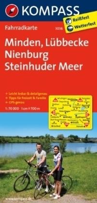 MINDEN - LUBBECKE - NIENBURG wodoodporna mapa turystyczna 1:70 000 KOMPASS