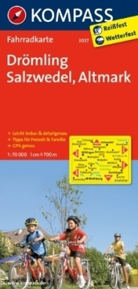 DROMLING - SALZWEDEL - ALTMARK wodoodporna mapa turystyczna 1:70 000 KOMPASS
