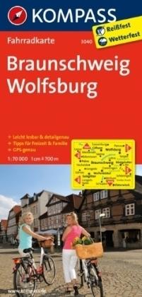 BRUNSZWIK - WOLFSBURG wodoodporna mapa turystyczna 1:70 000 KOMPASS