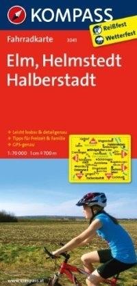 ELM - HELMSTEDT - HALBERSTADT wodoodporna mapa turystyczna 1:70 000 KOMPASS