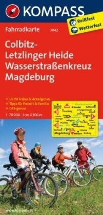 COLBITZ-LETZLINGER HEIDE wodoodporna mapa turystyczna 1:70 000 KOMPASS