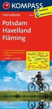 POTSDAM - HAVELLAND - FLAMING wodoodporna mapa turystyczna 1:70 000 KOMPASS
