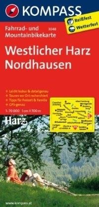 WESTLICHER HARZ - NORDHAUSEN wodoodporna mapa turystyczna 1:70 000 KOMPASS