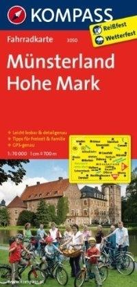 NATURPARK HOHE MARK - WESTMUNSTERLAND wodoodporna mapa turystyczna 1:70 000 KOMPASS