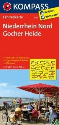 NIEDERRHEIN NORD - GOCHER HEIDE wodoodporna mapa turystyczna 1:70 000 KOMPASS