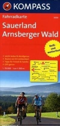 SAUERLAND - ARNSBERGER WALD wodoodporna mapa turystyczna 1:70 000 KOMPASS