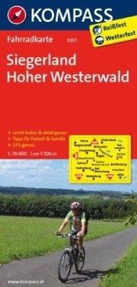 SIEGERLAND - HOHER WESTERWALD wodoodporna mapa turystyczna 1:70 000 KOMPASS