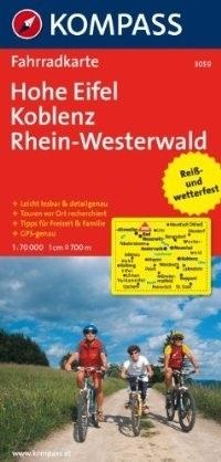 HOHE EIFEL - KOBLENCJA - REN - WESTERWALD wodoodporna mapa turystyczna 1:70 000 KOMPASS