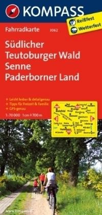 SUDLICHER TEUTOBURGER WALD - SENNE wodoodporna mapa turystyczna 1:70 000 KOMPASS