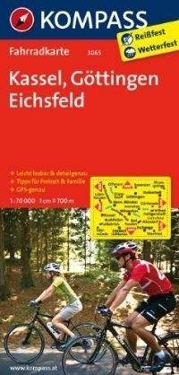 KASSEL - GETYNGA - EICHSFELD wodoodporna mapa turystyczna 1:70 000 KOMPASS