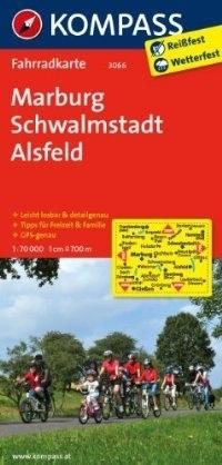 MARBURG - SCHWALMSTADT - ALSFELD wodoodporna mapa turystyczna 1:70 000 KOMPASS
