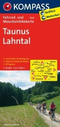TAUNUS - LAHNTAL wodoodporna mapa turystyczna 1:70 000 KOMPASS