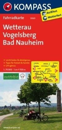 WETTERAU - VOGELSBERG - BAD NAUHEIM wodoodporna mapa turystyczna 1:70 000 KOMPASS