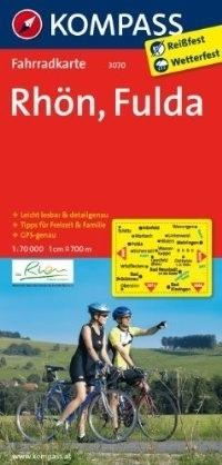 RHON - FULDA wodoodporna mapa turystyczna 1:70 000 KOMPASS