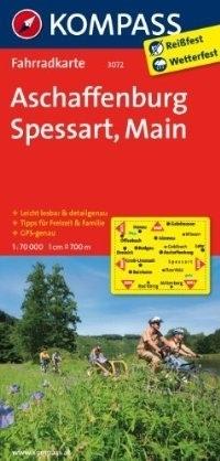 ASCHAFFENBURG - SPESSART - MAIN wodoodporna mapa turystyczna 1:70 000 KOMPASS