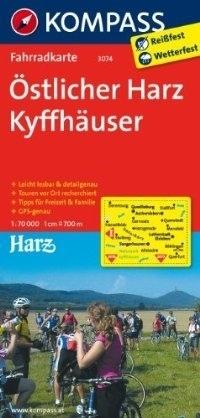 OSTLICHER HARZ - KYFFHAUSER wodoodporna mapa turystyczna 1:70 000 KOMPASS