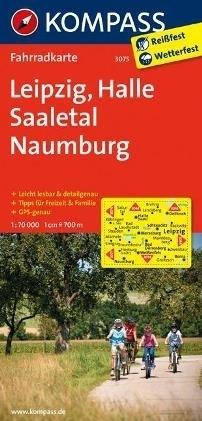LIPSK - HALLE - SAALETAL - NAUMBURG wodoodporna mapa turystyczna 1:70 000 KOMPASS