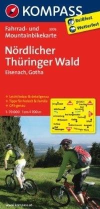 NORDLICHER THURINGER WALD - EISENACH wodoodporna mapa turystyczna 1:70 000 KOMPASS