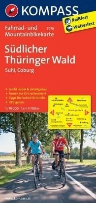 SUDLICHER THURINGER WALD - SUHL - COBURG wodoodporna mapa turystyczna 1:70 000 KOMPASS