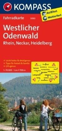 WESTLICHER ODENWALD - REN - NECKAR wodoodporna mapa turystyczna 1:70 000 KOMPASS