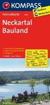 NECKARTAL - BAULAND wodoodporna mapa turystyczna 1:70 000 KOMPASS