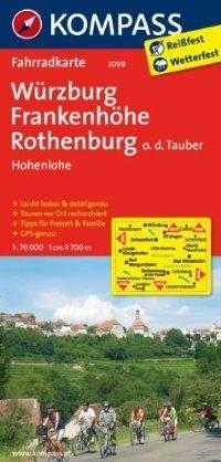 WURZBURG - FRANKENHOHE wodoodporna mapa turystyczna 1:70 000 KOMPASS