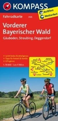 VORDERER BAYERISCHER WALD - GAUBODEN wodoodporna mapa turystyczna 1:70 000 KOMPASS