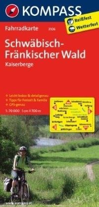 SCHWABISCH-FRANKISCHER WALD -KAISERBERGE wodoodporna mapa turystyczna 1:70 000 KOMPASS