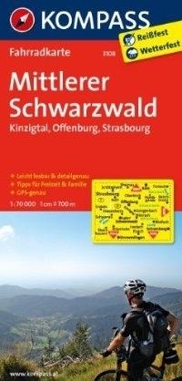 MITTLERER SCHWARZWALD - KINZIG wodoodporna mapa turystyczna 1:70 000 KOMPASS