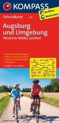 AUGSBURG I OKOLICE wodoodporna mapa turystyczna 1:70 000 KOMPASS