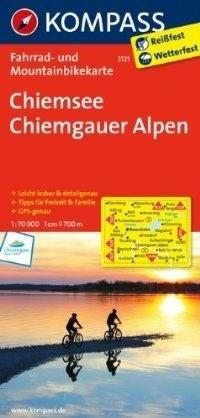 CHIEMSEE - CHIEMGAUER ALPEN wodoodporna mapa turystyczna 1:70 000 KOMPASS
