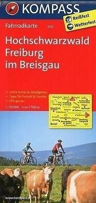 HOCHSCHWARZWALD FREIBURG IM BREISGAU wodoodporna mapa turystyczna 1:70 000 KOMPASS