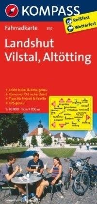 LANDSHUT - VILSTAL - ALTOTTING wodoodporna mapa turystyczna 1:70 000 KOMPASS