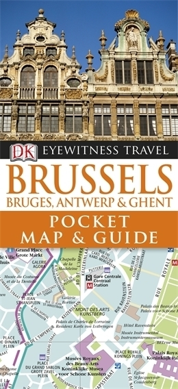 BRUKSELA Pocket Map and Guide - przewodnik i mapa DK