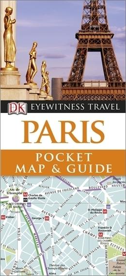 PARYŻ Pocket Map and Guide - przewodnik i mapa DK
