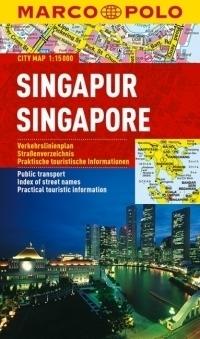 SINGAPUR laminowany plan miasta 1:15 000 MARCO POLO