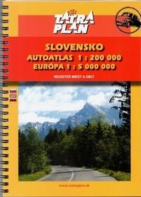 SŁOWACJA atlas samochodowy 1:200 000 TATRAPLAN