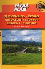 SŁOWACJA I CZECHY atlas samochodowy 1:200 000 TATRAPLAN