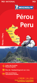 PERU mapa samochodowa 1:1 500 000 MICHELIN 2015 !!