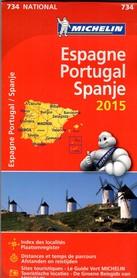 HISZPANIA - PORTUGALIA mapa samochodowa 1:1 000 000 MICHELIN