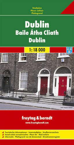 DUBLIN plan miasta 1:18 000 FREYTAG & BERNDT