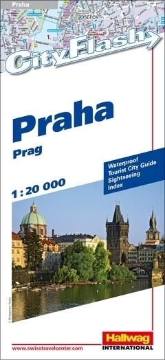 PRAGA wodoodporny plan miasta 1:20 000 HALLWAG