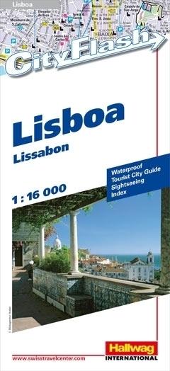 LIZBONA wodoodporny plan miasta 1:16 000 HALLWAG