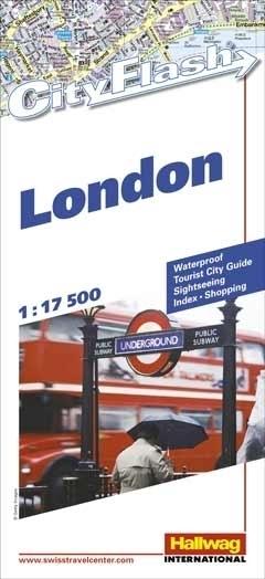 LONDYN wodoodporny plan miasta 1:17 500 HALLWAG