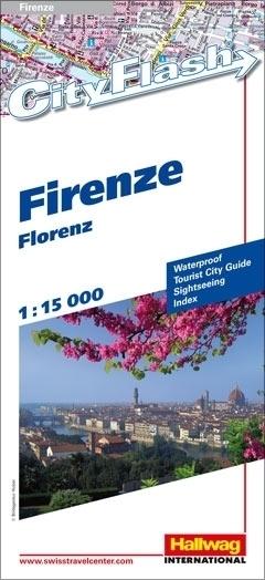 FLORENCJA wodoodporny plan miasta 1:15 000 HALLWAG