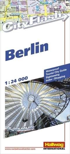 BERLIN wodoodporny plan miasta 1:24 000 HALLWAG