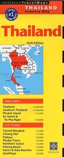 TAJLANDIA THAILAND mapa PERIPLUS