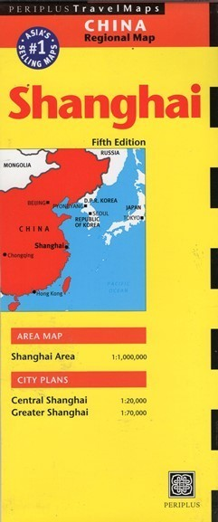 SZANGHAJ SHANGHAI mapa PERIPLUS